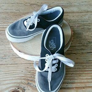 Vans sneakers black grey suede kids 11